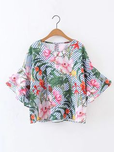 Shop Bell Sleeve Keyhole Back Ruffle Top online. SheIn offers Bell Sleeve Keyhole Back Ruffle Top & more to fit your fashionable needs.
