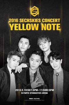 Sechs Kies Releases Their 'Yellow Note' Concert Photo K Pop Boy Band, Boy Bands, Sung Hoon, Suwon, Eun Ji, Olympic Gymnastics, Korean Entertainment, Don't Speak, Jiyong