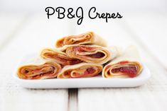 Peanut Butter and Jelly Crepes | Weelicious