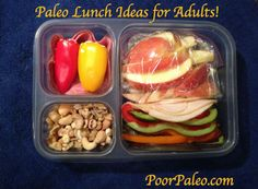 Healthy Paleo lunches - There's no way I would want to go completely Paleo (I love milk!), but I like the easy low carb selections.