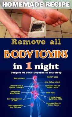 Remove all body toxins in one night - My Beauty Tips For You