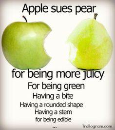 Imágenes que parodian las demandas de Apple