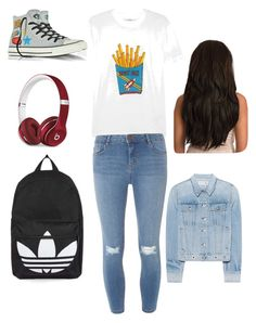 """""""Lazy much 😏"""" by nariviahoyos on Polyvore featuring Ganni, Converse, Topshop, rag & bone, Dorothy Perkins and Beats by Dr. Dre"""