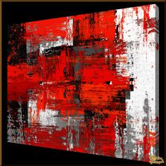 Buy Painting Black white red comprises handmade Abstract Paintings made by real oil paint on art linen or canvas is offered by Wow Art Paintings with custom sizes, money back guarantee, adding fast & free delivery services starting low at City Painting, Oil Painting Abstract, Abstract Canvas, Abstract City, Modern Art Paintings, Contemporary Abstract Art, City Art, Art Oil, Art Photography