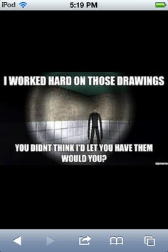 Slender man funny quote