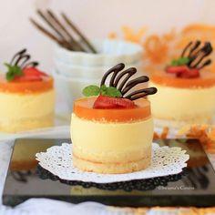 Mango cheese cake recipe a sprinkle of romance мини пирожные Mini Desserts, Individual Desserts, Valentine Desserts, Just Desserts, Delicious Desserts, Yummy Food, Gourmet Desserts, Plated Desserts, Yummy Recipes