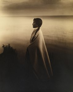 Portrait of an Ojibway, or Chippewa Indian girl in 1907.Photograph by Roland W. Reed, National Geographic