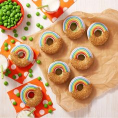 Rainbow donuts for S