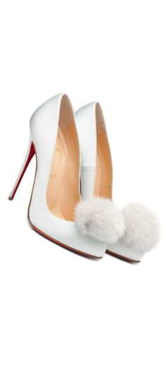 Dreaming of a White Christmas / karen cox.  Haute in Philadelphia.  Christian Louboutin