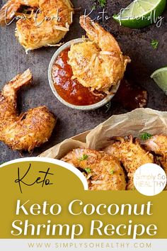Our Keto Coconut Shrimp Recipe makes crunchy and flavorful coconut shrimp that your whole family will love. This recipe also includes a crave-worthy, low-carb sweet chili sauce for dipping. 🍤😋❤️ #lowcarbshrimp #ketoshrimprecipe #ketocasseroles #lowcarb #keto #glutenfree #banting Seafood Casserole Recipes, Coconut Shrimp Recipes, Lobster Recipes, Seafood Recipes, Low Carb Dinner Recipes, Keto Dinner, Low Carb Appetizers, Appetizer Recipes, Vegan Dishes