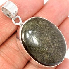 Black Sheen 925 Sterling Silver Pendant Jewelry BLSP146