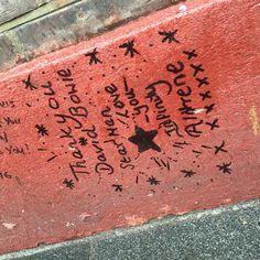 David Bowie Memorial London Brixton UK #Blackstar #Artist