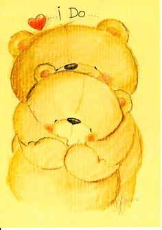 Florynda del Sol ღ☀¨✿ ¸.ღ Anche gli Orsetti hanno un'anima…♥ Teddy Bear Quotes, Teddy Bear Images, Teddy Bear Pictures, Cute Cartoon Pictures, Pictures To Draw, Cute Pictures, Cartoon Drawings, Animal Drawings, Cute Drawings