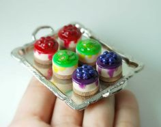 Handmade Miniature Polymer Clay Food Jewelry.
