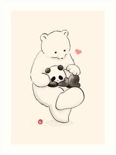 ' by Panda And Polar Bear Panda Kawaii, Cute Panda Cartoon, Polar Bear Cartoon, Niedlicher Panda, Panda Love, Cartoon Wallpaper, Cute Panda Wallpaper, Bear Wallpaper, We Bare Bears Wallpapers