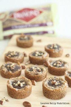 Salted Caramel and Chocolate Pecan Tarts - Lauren Kelly Nutrition @diamondnuts