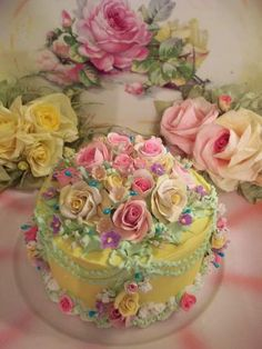 love the rose Gorgeous Cakes, Pretty Cakes, Amazing Cakes, Bolo Floral, Floral Cake, Victorian Cakes, Fake Cake, Just Cakes, Occasion Cakes