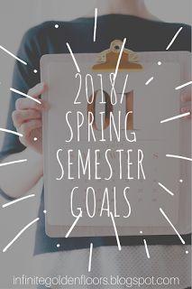 Infinite Golden Floors: 2018 / Spring Semester Goals