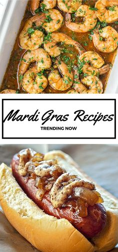 15 Top Mardi Gras Inspired Recipes // Everything from Cajun shrimp to creamy crawfish dip to sugar-dusted beignets, these New Orleans-style recipes are trending on social media for good reason. (Try New Recipes) Creole Recipes, Cajun Recipes, Seafood Recipes, Dinner Recipes, Cooking Recipes, Haitian Recipes, Seafood Dip, Donut Recipes, Crawfish Recipes