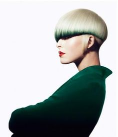 Avant garde short layered bob hairstyle
