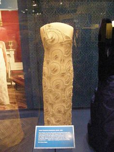 Nancy Reagan's inaugural gown. Barbara Bush's is on the right.
