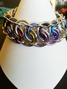Confetti Garter Belt Chainmaille Bracelet. by KiiraKreations, $15.00