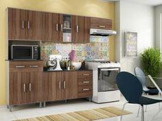 Cozinha Compacta Poliman Móveis Inovare Vitória - 8 Portas 1  Gaveta + Balcão 3 Portas 2 Gavetas APENAS  R$ 503,49