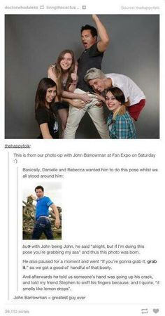 """John Barrowman ladies and gentlemen! I want to meet him so badly now, haha. -BH >>> my daughter HAS met him in Manchester, UK at a show about animals he was doing lol John Barrowman, My Tumblr, Tumblr Funny, Space Man, Captain Jack Harkness, Jokes For Teens, Look Here, Torchwood, Film Serie"