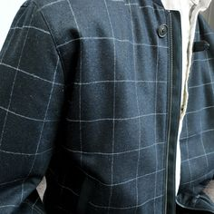The Fincashel Donegal tweed bomber jacket, the fabric is designed and woven in our mill in Donegal, Ireland and features navy base crossed with a grey windowpane check. Styled with the grey Callan tailored fit trousers. Navy Base, Bomber Jacket Men, Donegal, Weekend Wear, Tweed, Ireland, Trousers, Grey, Fit