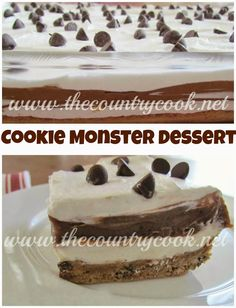 Cookie Monster Dessert {a.k.a. 4-Layer Dessert}