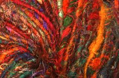 Recycled sari silk yarn. I have this, but have no idea what to do with it!