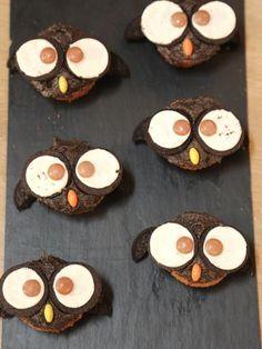 Cupcakes hibou pour Halloween - Marmiton