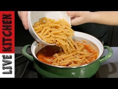 Easy Cooking, Cooking Recipes, Kitchen Living, Pasta Dishes, Macaroni And Cheese, Appetizers, Ethnic Recipes, Youtube, Live