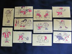 Vintage Illustrated Picture Flash Cards
