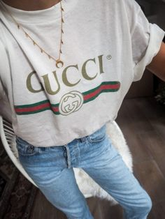 Gucci t-shirt and denim serendipity ave fashion blog