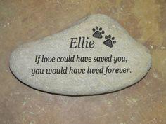 Medium Personalized Pet Memorial by MeadowCreekStones on Etsy https://www.etsy.com/listing/179542493/medium-personalized-pet-memorial