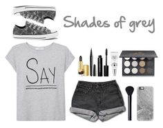 """Shades of grey"" by eaton05 ❤ liked on Polyvore featuring MANGO, PèPè, Casetify, Estée Lauder, Marc Jacobs, Converse, Bobbi Brown Cosmetics, Shany, NARS Cosmetics and women's clothing"