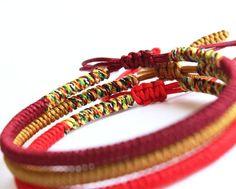 fc7ea7d24e Mixed Color Tibetan Buddhist Handmade Knots Lucky Rope Bracelet