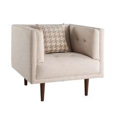 INK+IVY Davis Linen Lounge Chair