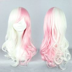 Pink White Mixed The broken Mono America Anime Cosplay Wig