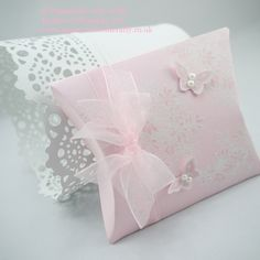 Papercraft With Crafty: Awesomely Artistic, a Pillow Box Die & Papillon Potpourri Butterflies