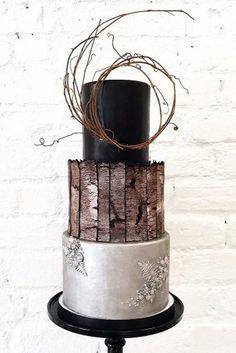 39 Black And White Wedding Cakes Ideas – Kuchen Rezept Black And White Wedding Cake, White Wedding Cakes, Cool Wedding Cakes, Beautiful Wedding Cakes, Beautiful Cakes, Unusual Wedding Cakes, White Cakes, Perfect Wedding, Black White