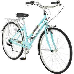 700c Schwinn Admiral Women's Ladies Hybrid Retro 7 Speed Bike, Powder Blue