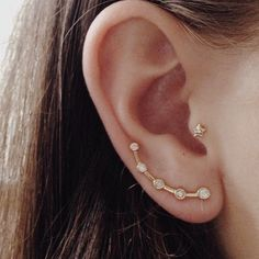 #new #meteor #earcrawler #earcuff #diamond #14k #gold #star #diamonds #valejewelry