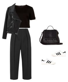 """Untitled #1863"" by yuenchewwan ❤ liked on Polyvore featuring Joseph, Ted Baker, Acne Studios, adidas and Mackage"