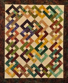 Island Chain.  I want to make this quilt; I will make this quilt, in batik fabrics!