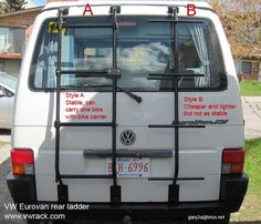 eurovan roof ladder - Google Search