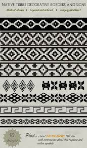 Buy Decorative Native Tribe Borders, Lines & Symbols by bluedesign on GraphicRiver. This is a set of 10 differents regional and tribe decoratives ornaments designs that you can use for borders, lines o. Native Symbols, Native American Symbols, Native American Design, Native Design, Native Art, American Indians, Cherokee Symbols, Native American Rugs, Indian Symbols