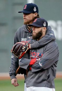Buchholz & Pedroia - 2013 Red Sox World Series Champs 10/30/2013