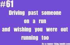It's a runners thing